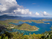 High-angle view of Coral Bay, St. Johns, US Virgin Islands