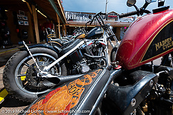 Evo Chopper in the Broken Spoke area of the Sturgis Iron Horse Saloon during the Sturgis Black Hills Motorcycle Rally. Sturgis, SD, USA. Sunday, August 4, 2019. Photography ©2019 Michael Lichter.