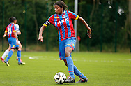 Rochelle Shakes on the ball during the Pre-Season Friendly match between Crystal Palace LFC and Queens Park Rangers Ladies at the The Stadium, Bromley, United Kingdom on 19 July 2015. Photo by Michael Hulf.