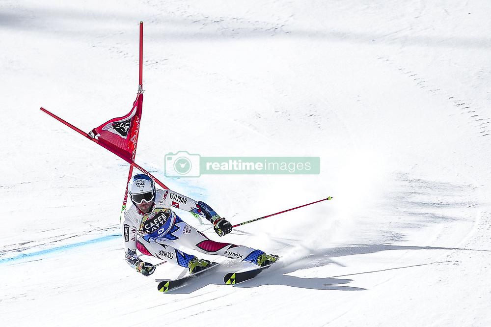 March 16, 2019 - El Tarter, Andorra - Thomas Fanara of France Ski Team, during Ladie's Giant Slalom Audi FIS Ski World Cup race, on March 16, 2019 in El Tarter, Andorra. (Credit Image: © Joan Cros/NurPhoto via ZUMA Press)