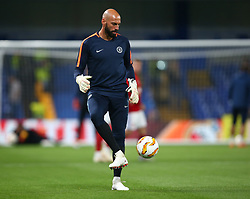 October 4, 2018 - London, Greater London, United Kingdom - London, England - October 04:.Chelsea's Willy Caballero during the pre-match warm-up .during UAFA Europa League Group L between Chelsea and MOL Vidia at Stamford Bridge stadium , London, England on 04 Oct 2018. (Credit Image: © Action Foto Sport/NurPhoto/ZUMA Press)