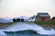 A small farm by the sea on a stormy day at Flø, Norway | Et lite gårdsbruk ved sjøen på en stormfull dag på Flø, Norge