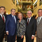 co-chair Tom Eschen, Lifetime Achievement Honoree Jim Lehrer, Honorary Committee Carol and Tom Voss, co-chair and President Bill Greenblatt