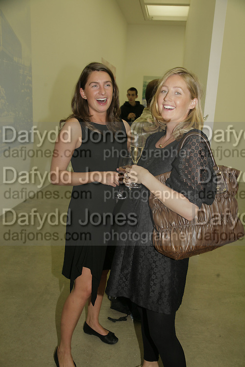 Katy  Esquilat and Sarah  Esquilat, Johnnie Shand Kydd:  book launch party celebrate the publication of Crash.White Cube. Hoxton sq. London. 18 September 2006. ONE TIME USE ONLY - DO NOT ARCHIVE  © Copyright Photograph by Dafydd Jones 66 Stockwell Park Rd. London SW9 0DA Tel 020 7733 0108 www.dafjones.com