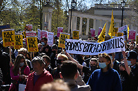 Kill the Bill protests Thousands march in London  on day of Duke of Edinburgh's funeral photo by Krisztian Elek