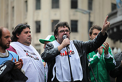 July 13, 2017 - Buenos Aires, Buenos Aires, Argentina - State employees protested against government policies and stood in support of Pepsico workers who were subjected to police repression at the Lay´s snack factory. (Credit Image: © Claudio Santisteban via ZUMA Wire)