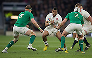 Twickenham. Great Britain.<br /> Antong WATSON look's at the gap between left Jamie HEASSLIP and Rory BEST, during the <br /> RBS Six Nations Rugby, England vs Ireland at the RFU Twickenham Stadium. England.<br /> <br /> Saturday  27/02/2016. <br /> <br /> [Mandatory Credit; Peter Spurrier/Intersport-images]