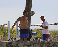 Miami: Football Agent  Davide Lippi playing beach football - 18 July 2017