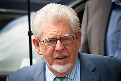 London, June 6th 2014. Entertainer and artist Rolf Harris arrives at Southwark Crown Court as his trial on 12 counts of indecent assault against 4 girls aged 7 to 19 continues.