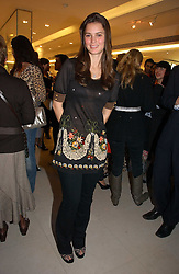 JESSICA LEE at the launch of Roberto Cavalli Vodka held in the International Designer Room, Harrods, Hans Crescent, London on 5th December 2006.<br /><br />NON EXCLUSIVE - WORLD RIGHTS