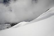 View across the Breithornplateau towards Italy, nr Zermatt