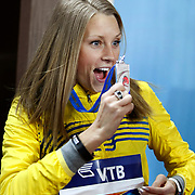 Ebba Jungmark from Sweden silver medal during the IAAF World Indoor Championships at the Atakoy Athletics Arena, Istanbul, Turkey. Photo by TURKPIX