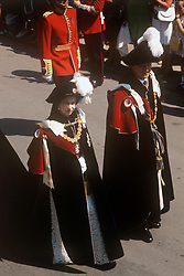 File photo dated 18/06/73 of Queen Elizabeth II and the Duke of Edinburgh in the procession to St George's Chapel, Windsor, for the Service of Thanksgiving for the Most Noble Order of the Garter. The Royal couple will celebrate their platinum wedding anniversary on November 20.