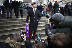 © Licensed to London News Pictures. 03/02/2018. London, UK. UKIP Leader Henry Bolton takes part in the Veterans for Justice March on Horseguards in central London .Photo credit: Peter Macdiarmid/LNP