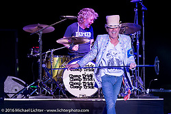 Cheap Trick performing on the main stage at the Buffalo Chip during the annual Sturgis Black Hills Motorcycle Rally.  SD, USA.  August 9, 2016.  Photography ©2016 Michael Lichter.