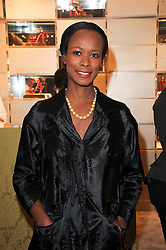 SHALA MONROQUE at a Cocktail party to celebrate the opening of the new Miu Miu boutique, 150 New Bond Street, London hosted by Miuccia Prada and Patrizio Bertelli on 3rd December 2010.