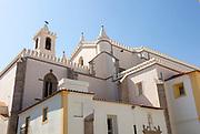 Historic 16th Century church of Saint Francis, Igreja de São Francisco, built in Gothic style, with some Manueline influences, completed around 1510 design of Martim Lourenço, city of Evora, Alto Alentejo, Portugal, Southern Europe