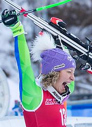 18.12.2018, Saslong, St. Christina, ITA, FIS Weltcup Ski Alpin, Abfahrt, Damen, Siegerehrung, im Bild Ilka Stuhec (SLO, 1. Platz) // race winner Ilka Stuhec of Slovenia during the winner Ceremony for the ladie's Downhill of FIS ski alpine world cup at the Saslong in St. Christina, Italy on 2018/12/18. EXPA Pictures © 2018, PhotoCredit: EXPA/ Johann Groder