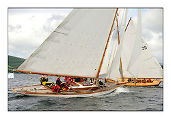 Day three of the Fife Regatta, Cruise up the Kyles of Bute to Tighnabruaich<br /> The Truant, Ross Ryan, GBR, Gaff Cutter 8mR, Wm Fife 3rd, 1910<br /> <br /> * The William Fife designed Yachts return to the birthplace of these historic yachts, the Scotland's pre-eminent yacht designer and builder for the 4th Fife Regatta on the Clyde 28th June–5th July 2013<br /> <br /> More information is available on the website: www.fiferegatta.com