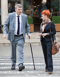 © Licensed to London News Pictures. 10/3/2017. London, UK. Food blogger Jack Monroe arrives at the High Court witth solicitor Mark Lewis.  Jack Monroe is claiming libel damages after 'serious harm' was caused over tweets from the Daily Mail columnist Katie Hopkins. Photo credit: Peter Macdiarmid/LNP