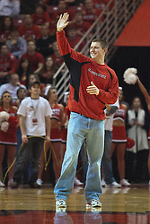 09 January 2010: Gregg Alexander returns as the nights ambassador. The Purple Aces of Evansville play the Redbirds of Illinois State on Doug Collins Court inside Redbird Arena at Normal Illinois.