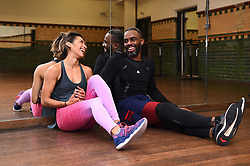Strictly Come Dancing contestants Charles Venn and Karen Clifton after practicing their latest dance routine, the Charleston, at a dance studio in London.