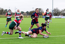 Clara Nielson of Bristol Bears Women scores a try - Mandatory by-line: Paul Knight/JMP - 11/01/2020 - RUGBY - Shaftesbury Park - Bristol, England - Bristol Bears Women v Firwood Waterloo Women - Tyrrells Premier 15s