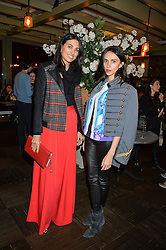 Left to right, FEDERICA FANARI and KAROLINA HICKS at The Ivy Kensington Brasserie International Women's Day & Terrace Launch Party held at The Ivy Kensington Brasserie, 96 Kensington High Street, London on 8th March 2016.