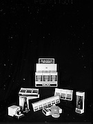22-23/06/1965<br /> 06/22-23/1965<br /> 22-23 June 1965<br /> Winning packages for the Irish Packaging Institute. Melina Shee-Gwee soap, bath oil, perfume, Ash-ling soap, talcum powder and perfum and Sun Gold anti-sunburn cream.