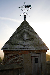 Weather vane on the top of the Tower at Sissinghurst Castle garden