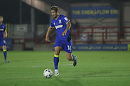 AFC Wimbledon midfielder Tom Beere (16) during the EFL Trophy match between AFC Wimbledon and Plymouth Argyle at the Cherry Red Records Stadium, Kingston, England on 4 October 2016. Photo by Stuart Butcher.