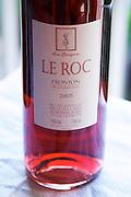 Bottle of Domaine Le Roc Cuvee La Saignee rose Fronton Haut-Garonne France