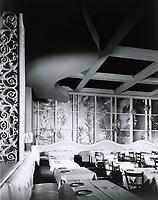 1950 Interior of Ciro's Nightclub on Sunset Blvd. in West Hollywood
