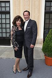 June 19, 2017 - Monaco, Monaco - 57th Monte-Carlo Television Festival cocktail at the Palace of Monaco. Joan Collins and Percy Gibson. (Credit Image: © Visual via ZUMA Press)