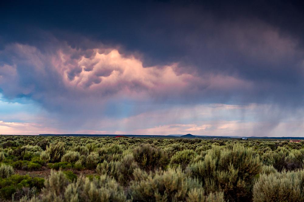 West Rim Trail, mammatus clouds, Rio Grande Del Norte National Monument, Taos County, New Mexico