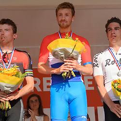 18-06-2017: Wielrennen: NK Paracycling: Montferland<br /> s-Heerenberg (NED) wielrennen Podium Mannen C1-3, Stijn Boersma (Nederlands kampioen), Arnoud Nijhuis en Andre Wijnhoud