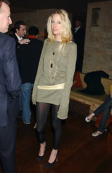 The HON.SOPHIA HESKETH at a party hosted by Daniella Helayel of fashion label ISSA held at Taman Gang, 141 Park Lane, London on 15th February 2006.<br /><br />NON EXCLUSIVE - WORLD RIGHTS