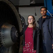 13.09.17.            <br /> Aviation Finance Finuas Network, Introduction To Aviation Leasing, Air Ventures, Shannon. Pictured are, Diana Galeriu, SMBC Aviation Capital and Mohamed Nabiel, SMBC Aviation Capital. Picture: Alan Place