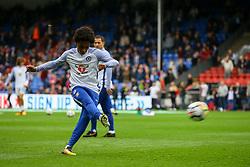 Willian of Chelsea warms up - Mandatory by-line: Jason Brown/JMP - 14/10/2017 - FOOTBALL - Selhurst Park - London, England - Crystal Palace v Chelsea - Premier League