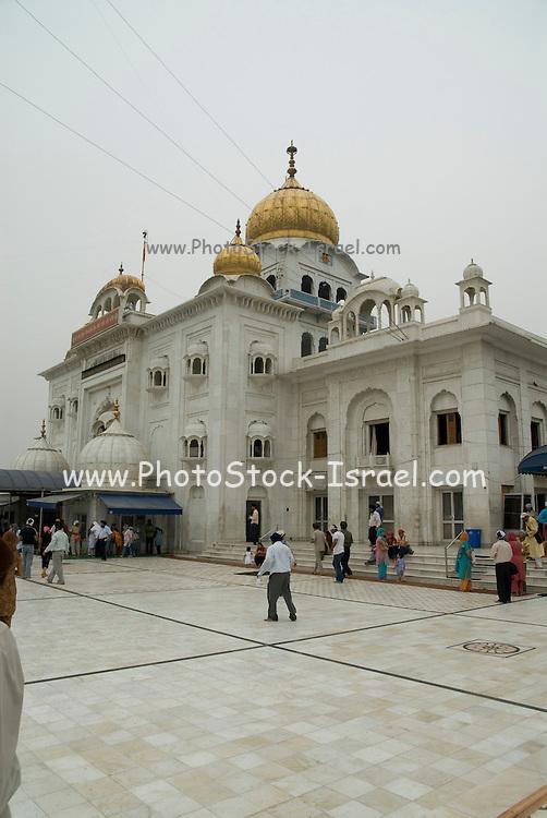 India, Delhi, Exterior of the Bangla Sahib Sikh Temple