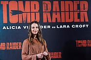 022818 Alicia Vikander 'Tomb Raider' Madrid Photocall