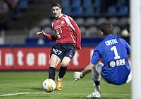 Fotball<br /> Frankrike<br /> Foto: DPPI/Digitalsport<br /> NORWAY ONLY<br /> <br /> FOOTBALL - FRENCH CHAMPIONSHIP 2007/2008 - L1 - LILLE OSC v SM CAEN - 15/03/2008 - KEVIN MIRALLAS (LIL) / BENOIT COSTIL (CAEN)
