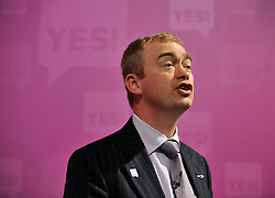 © licensed to London News Pictures. LONDON UK. 27/04/11. Tim Fallon. A News conference held today (27 April 2011) in Church House, London. The conference was introduced by Katie Ghose with Lib Dem President Tim Farron, Green Party Leader Caroline Lucas, UKIP leader Nigel Farage and  Labour's  Alan Johnson, supporting a Yes for the Alternative Vote. Photo credit should read Stephen Simpson/LNP