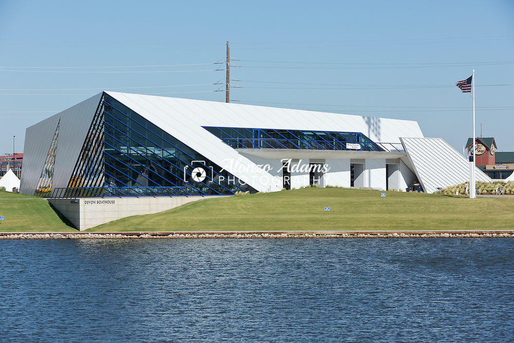 A view of the Devon Boathouse in Boathouse District along the Oklahoma River in Oklahoma City on Tuesday, Oct. 1, 2013.  (Photo copyright 2013 Alonzo J. Adams).