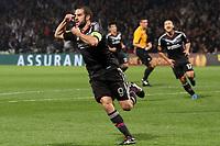FOOTBALL - UEFA EUROPA LEAGUE 2012/2013 - GROUP STAGE - GROUP I - OLYMPIQUE LYONNAIS v ATHLETIC BILBAO - 25/10/2012 - PHOTO EDDY LEMAISTRE / DPPI - JOY OF LISANDRO LOPEZ  (OL) AFTER HIS GOAL