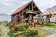 The Log Cabin gift shop, a well known feature in Whittier, Alaska.