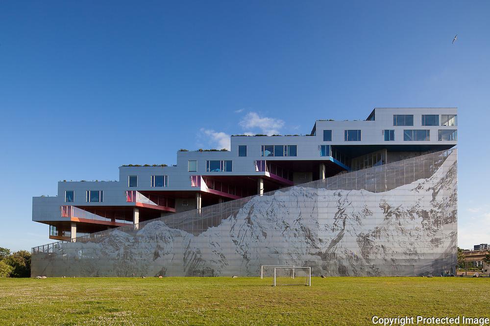 Mountain Dwellings, Copenhagen, Denmark <br /> Architects: BIG Architects (Bjarke Ingles Group), Copenhagen, Denmark. Engineers: Moe & Brodsgaard. Built: 2008