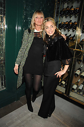 Left to right, JEANNE MARINE and DEBBIE LENG at a party to launch the Dom Perignon OEotheque 1995 held at The Landau, Portland Place, London W1 on 26th February 2008.<br />