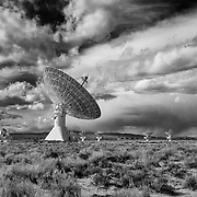 Cal Tech Radio Telescope Array - North Owens Valley - Black & White