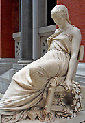 Marble sculpture of a woman in repose, known as the 'Prosper d'Espinay'. Made by a French Sculptor between 1836-1914.